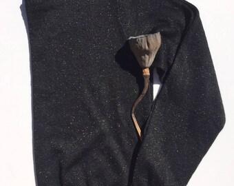 90s Black Sparkle Glitter Sweater