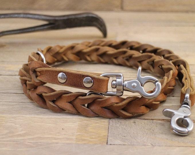 Dog leash, Braided leather leash, Leather dog leash, Pet gift, Matching leather leash, Dog walks, Brown leash, Dog lead, Pet gift.