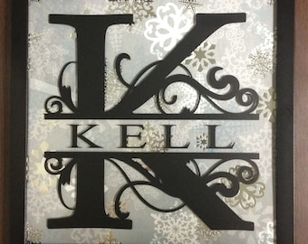 Monogram Name Frame - 12 Changeable Backgrounds