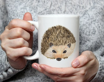 Watercolor Hedgehog Mug | Hedgehog Coffee Cup | Cute Hedgehog Mug | Hedgehog Kitchen Decor | Hedgehog Gift | Hedgehog Lover