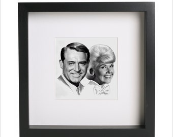 cary grant and doris day photo print use in ikea ribba frame looks great framed for gift free shipping 1