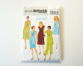 Uncut Butterick B5196 Womens Maternity Top Dress Shorts and Pants  Paper Sewing Pattern Size F5 16, 18, 20, 22, 24