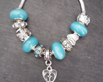 Charms, turquoise bracelet, pendant and charms