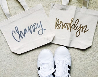 Custom Canvas Lunch Size Tote