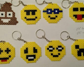 Emoji keychains party pack - Set of 8