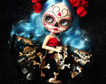 Custom Blythe Dolls For Sale by Manuelita Catrina Blythe and Diorama OOAK For Adoption