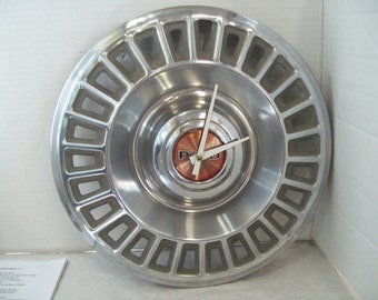 "1960's 1970's Pontiac PMD Hubcap Wall Clock Man Cave, 14"" Hub Cap Free Shipping"