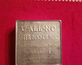 V- all manufacturing company after dinner mint tin