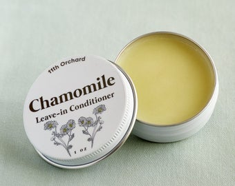 Leave In Chamomile Hair Conditioner - Hair Butter - All Natural Ingredients - Hair Balm
