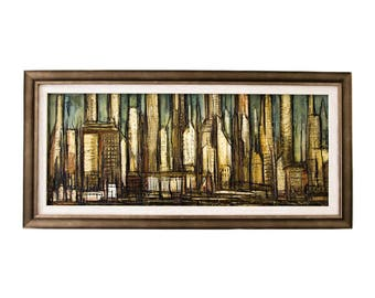 Original Signed Carl Thorp Oil Painting of NYC