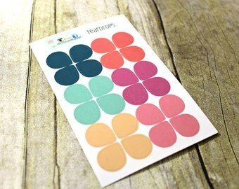 Teardrop Planner stickers - Dewdrop Stickers - Use in Erin Condren Planner - Happy Planner - Reminder Sticker - Functional sticker