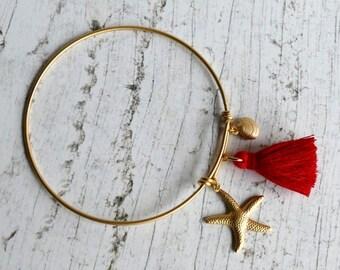 Starfish Bracelet Starfish Jewelry Golden Jewelry Seaside G01