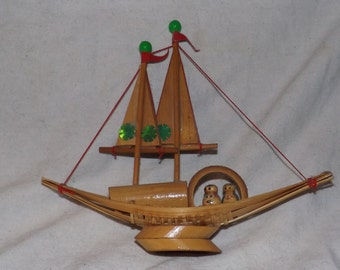 Collectible Handmade Wooden Boat