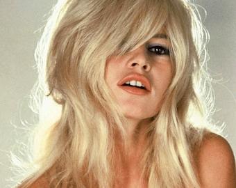 Brigitte Bardot 13 x 19 cm Color Portrait Photo Art Poster Print