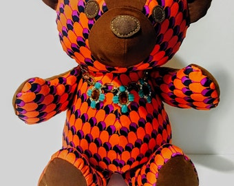 Zoey- 21 inch Teddy Bear, made from famous designer fabric, Bearmoooh Teddy Bear