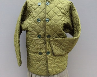 vintage army quilted under jacket | size small