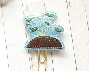 Glam Seedling Planner Clip - Party Favor - Bookmark - Planner Accessories - Small Gift - Earth Day - Gardener - Grow Your Food - Organic