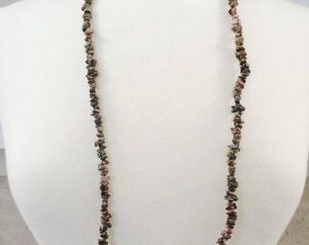 Long unakite necklace
