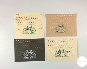 Cartes de souhait sérigraphiée / carton récupéré / voeux / carte de fête / cartes personnalisées / cartes corporatives / Pâques / faire-part