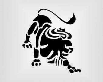 Leo, Zodiac, Horoscope, Cutout, Vector art, Cricut, Silhouette Cameo, die cut, instant download, Digital Cut, Print Files, Ai, Pdf, Svg