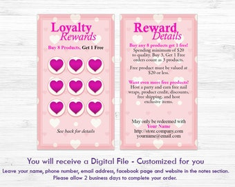 Loyalty Cards | Double Sided Card | Jamberry Compatible