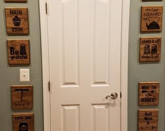 Wooden Kitchen Signs