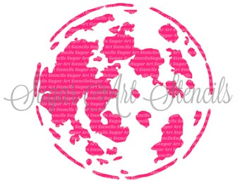 Cookie stencil earth planet globe NB700184