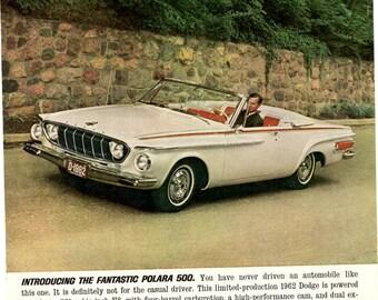 1962 Dodge Polara 500 convertible Chrysler Corp. wall decor man cave (1701)