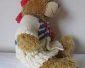 Sailing outfit for teddy bear Teddy Bear Clothes handmade teddy bear set teddy headband traditional aran for 1617 bear  bear gift