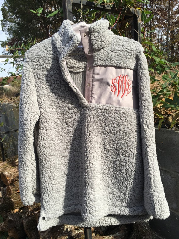 personalized monogram sherpa pullover women great teen or
