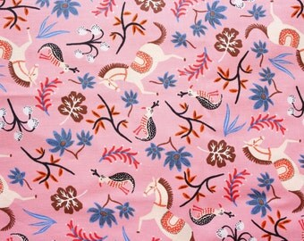 Les Fleurs, Rifle Paper Co, Cotton + Steel Fabric, Cotton and Steel, Carousel, RJR, Cotton, Pink, Premium Fabric, Half Metre