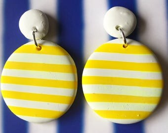 Yellow stripes large dangles