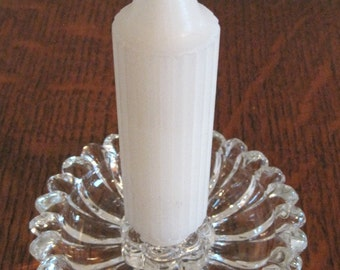 Candle Holder, Glass Candle Holder, Glass Flower
