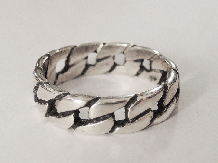 Sovats 925 Sterling Silver Twisted Rope Finger Thumb Band