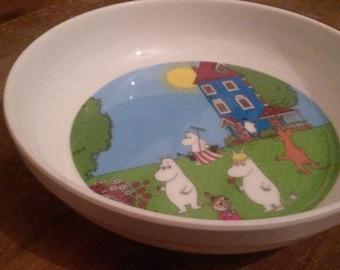 Vintage Moomin plastic plate Vintage Martinex Muumi plate