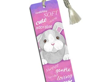 Bunny Rabbit Printed Bookmark With Tassel
