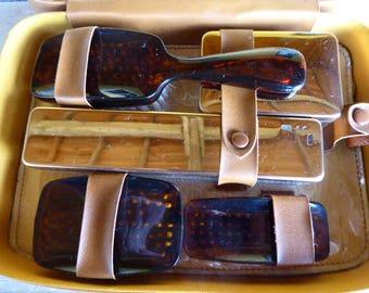 French Vanity Set, Man's Retro Grooming Kit, Travel Toiletry Set