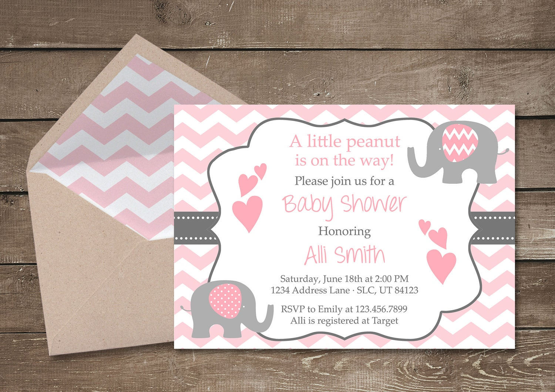 elephant baby shower invitation it 39 s a girl elephant
