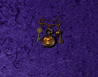 Pocket Watch Brooch