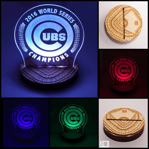 Special Edition Chicago Cubs World Series Led Lamp Inspired
