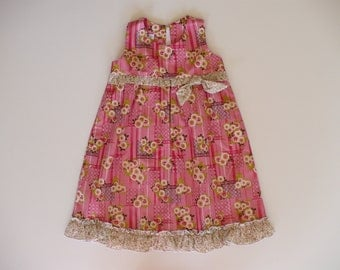 A PARTY DRESS, girls dress, baby dress, toddler dress, special occasion, birthday, holiday, summer, handmade, pink,  girls clothing