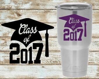 Class of 2017 Decal | Graduation Decal | Senior Decal | Seniors 2017 | Yeti Decal | Car Decal | Laptop Decal