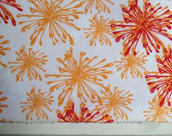 "Hand Maker Fabrics by Natalie Barnes for Windham Fabrics  ""Sparkle""  color:  Pumpkin"