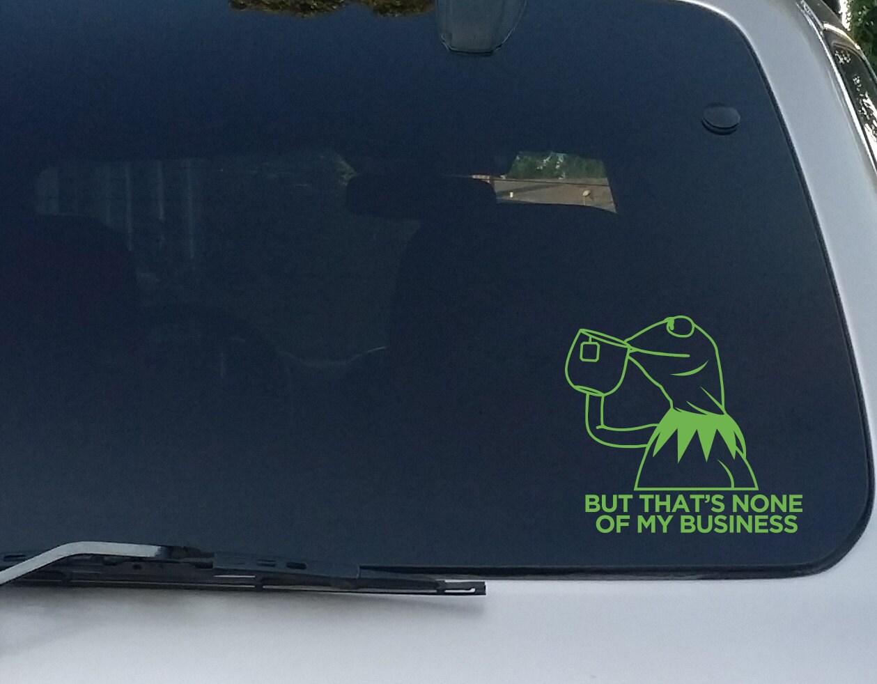 Tea Drinking Kermit Decal