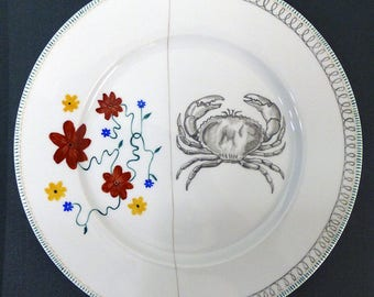 Hand painted porcelain collection plate  - assembly - 03