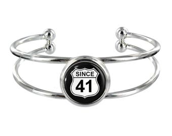 Since 41 Silver Plated Bangle in Organza Gift Bag