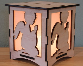 Guardian Angel NightLight Laser Cut Lamp