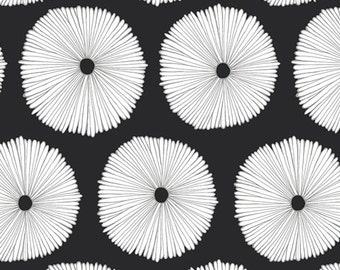 Black and White Fabric by the Yard, Quilting Cotton Fat Quarter, DIY Gift, Sewing Supplies Geometric Fabric Art Deco Fabric Buoyancy Opposed