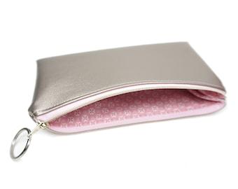 Bags - evening bag - clutch * Rosé gold & pink * marengu