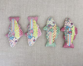 Mackenzie-Childs Drawer Pulls Set of 4 Fish Knobs Pulls Hardware